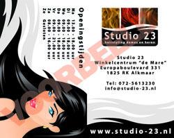 """""""Stempelkaart Studio 23 buitenzijde"""""""